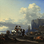 Nicolaes Pietersz Berchem - View of an Italian Port, National Gallery of Art (Washington)