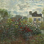 The Artist's Garden in Argenteuil (A Corner of the Garden with Dahlias), Claude Oscar Monet