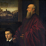 Follower of Jacopo Tintoretto - Portrait of a Man and Boy, National Gallery of Art (Washington)