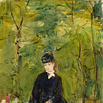 Berthe Morisot - The Artist's Sister Edma Seated in a Park, National Gallery of Art (Washington)
