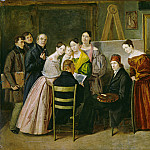 Unknown 19th Century – A Painter and Visitors in a Studio, National Gallery of Art (Washington)