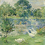 Berthe Morisot - Girl in a Boat with Geese, National Gallery of Art (Washington)