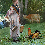 National Gallery of Art (Washington) - Winslow Homer - The Milk Maid