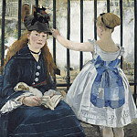 Edouard Manet - The Railway, National Gallery of Art (Washington)