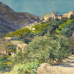 Jules-Ferdinand Jacquemart – Sun-Drenched Hills near Menton, National Gallery of Art (Washington)