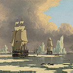 "John Ward of Hull – The Northern Whale Fishery: The ""Swan"" and ""Isabella"", National Gallery of Art (Washington)"