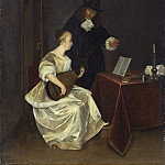 Studio of Gerard ter Borch the Younger - The Music Lesson, National Gallery of Art (Washington)