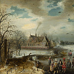 National Gallery of Art (Washington) - Adam van Breen - Skating on the Frozen Amstel River