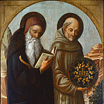 National Gallery of Art (Washington) - Jacopo Bellini - Saint Anthony Abbot and Saint Bernardino of Siena