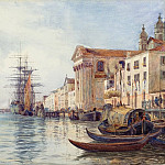 National Gallery of Art (Washington) - David Law - The Giudecca Canal with Shipping near the Chiesa dei Gesuati