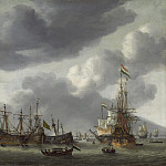 Reinier Nooms - Amsterdam Harbor Scene, National Gallery of Art (Washington)