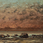 The Black Rocks at Trouville, Gustave Courbet