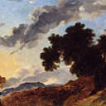 Fragonard, Jean Honore - Mountain Landscape at Sunset, National Gallery of Art (Washington)