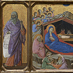 Duccio di Buoninsegna - The Nativity with the Prophets Isaiah and Ezekiel, National Gallery of Art (Washington)