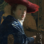 Johannes Vermeer - Girl with the Red Hat, National Gallery of Art (Washington)