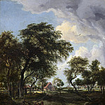 Meindert Hobbema - A Farm in the Sunlight, National Gallery of Art (Washington)