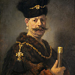 Rembrandt van Rijn - A Polish Nobleman, National Gallery of Art (Washington)