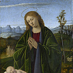 Marco Basaiti - Madonna Adoring the Child, National Gallery of Art (Washington)
