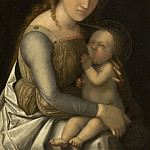 National Gallery of Art (Washington) - Circle of Andrea Mantegna (Possibly Correggio) - Madonna and Child