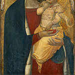Pietro Lorenzetti - Madonna and Child with Saint Mary Magdalene and Saint Catherine [middle panel], National Gallery of Art (Washington)