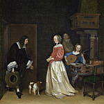 Gerard ter Borch the Younger - The Suitor's Visit, National Gallery of Art (Washington)