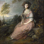 Thomas Gainsborough - Mrs. Richard Brinsley Sheridan, National Gallery of Art (Washington)