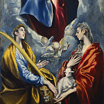 El Greco - Madonna and Child with Saint Martina and Saint Agnes, National Gallery of Art (Washington)