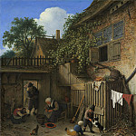 Adriaen van Ostade – The Cottage Dooryard, National Gallery of Art (Washington)