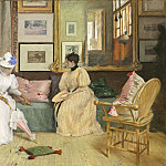 William Merritt Chase – A Friendly Call, National Gallery of Art (Washington)
