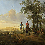 Aelbert Cuyp - Horsemen and Herdsmen with Cattle, National Gallery of Art (Washington)