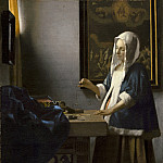 National Gallery of Art (Washington) - Johannes Vermeer - Woman Holding a Balance