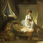 Jean-Honore Fragonard - The Visit to the Nursery, National Gallery of Art (Washington)