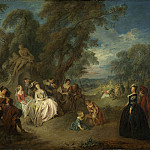 Jean-Baptiste Joseph Pater – Fete Champetre, National Gallery of Art (Washington)