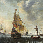 Circle of Jacob Adriaensz Bellevois - Dutch Ships in a Lively Breeze, National Gallery of Art (Washington)