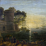 National Gallery of Art (Washington) - Follower of Claude Lorrain - Harbor at Sunset