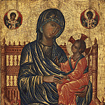 Byzantine 13th Century - Enthroned Madonna and Child, National Gallery of Art (Washington)