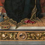 Madonna and Child Enthroned with Donor, Carlo Crivelli