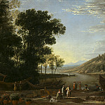 Landscape with Merchants, Claude Lorrain