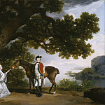 George Stubbs - Captain Samuel Sharpe Pocklington with His Wife, Pleasance, and possibly His Sister, Frances, National Gallery of Art (Washington)