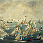 American 19th Century - Imaginary Regatta of America's Cup Winners, National Gallery of Art (Washington)