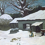 American 19th Century - New England Farm in Winter, National Gallery of Art (Washington)