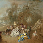 Jean-Baptiste Joseph Pater - On the Terrace, National Gallery of Art (Washington)