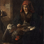 Follower of Rembrandt van Rijn - Old Woman Plucking a Fowl, National Gallery of Art (Washington)