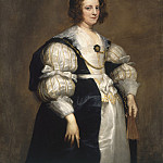 Lady with a Fan, Anthony Van Dyck