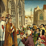 Master of Saint Giles and Assistant - Episodes from the Life of a Bishop Saint, National Gallery of Art (Washington)