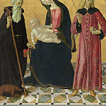 Neroccio de'Landi - Madonna and Child with Saint Anthony Abbot and Saint Sigismund, National Gallery of Art (Washington)