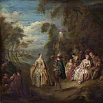 after Jean-Baptiste Joseph Pater – Fete Champetre, National Gallery of Art (Washington)