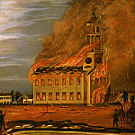 John Hilling - Burning of Old South Church, Bath, Maine, National Gallery of Art (Washington)