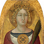 National Gallery of Art (Washington) - Ugolino Lorenzetti - Saint Catherine of Alexandria