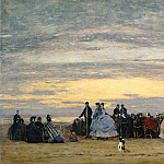 The Beach at Villerville, Eugene Boudin